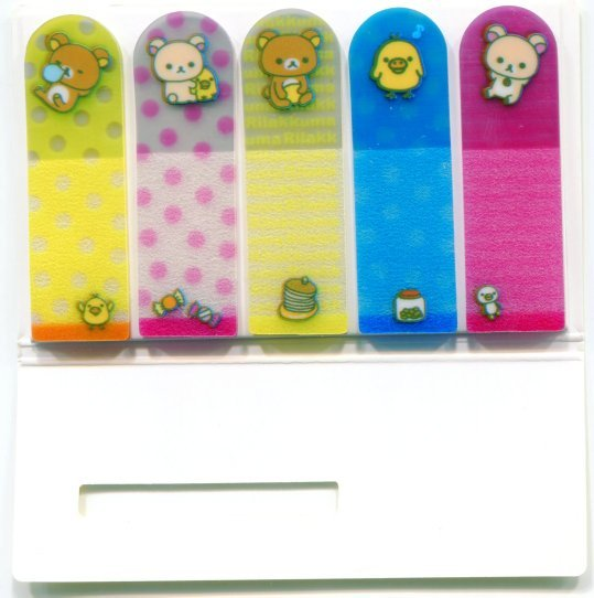 Image 1 of San-X Rilakkuma Relax Bear 5 Design Semi-transparent Sticky Note #4 (MP0216)