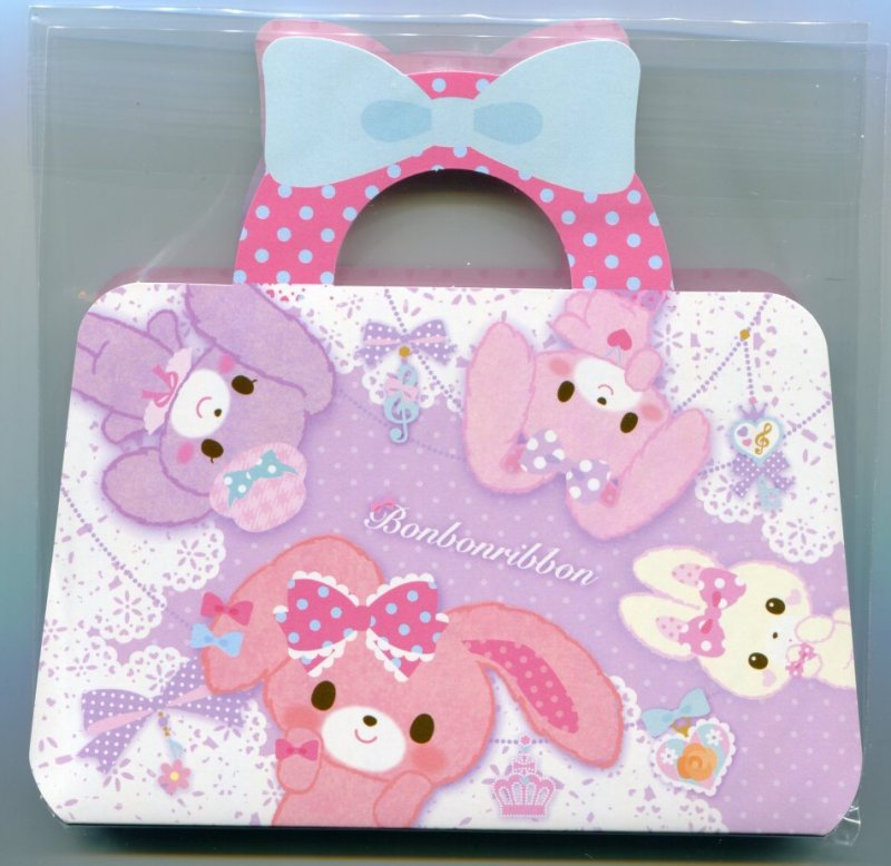 Image 0 of Sanrio Bonbonribbon Handbag Shaped 2 Design Memo Pad #1 (M1283)