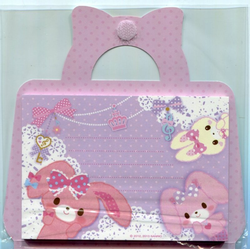 Image 3 of Sanrio Bonbonribbon Handbag Shaped 2 Design Memo Pad #1 (M1283)