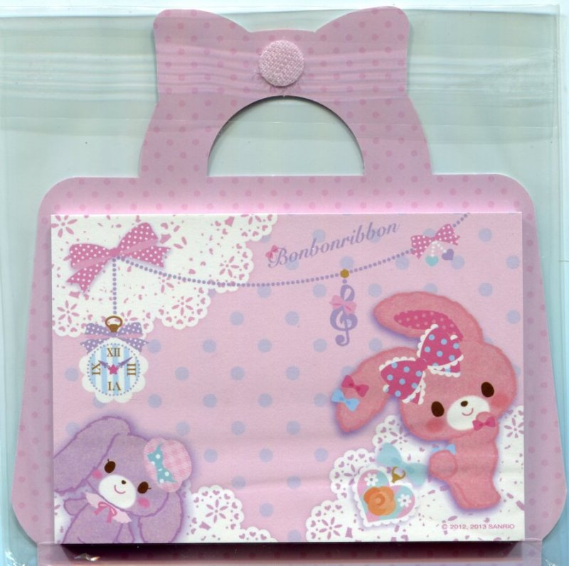 Image 4 of Sanrio Bonbonribbon Handbag Shaped 2 Design Memo Pad #1 (M1283)