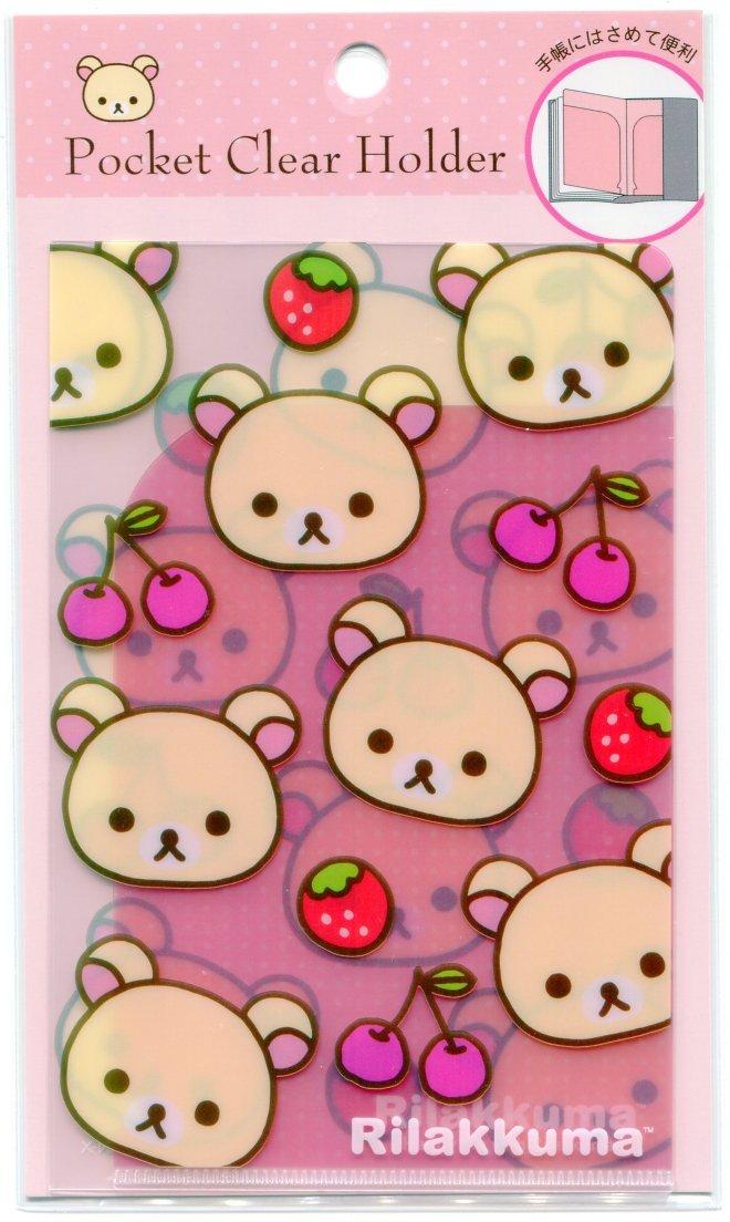 Image 0 of San-X Rilakkuma Relax Bear 2 Pockets Mini Plastic File Folder #2 (FF1163)