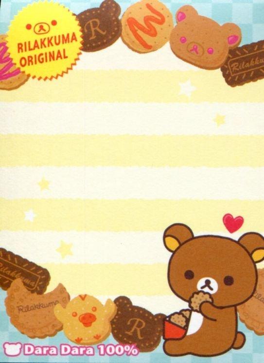 Image 2 of San-X Rilakkuma Relax Bear 2 Design Mini Memo Pad #56 (Rilakku market) (M1287)