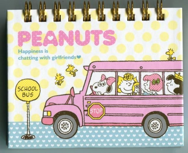 Image 0 of Peanuts Snoopy Spiral Notebook Memo #6 (NB0165)