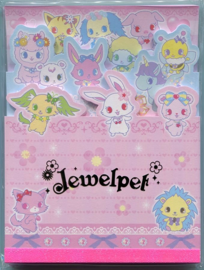 Image 0 of Sanrio Jewelpet 3 Design Die Cut Memo Pad #2 (M1308)