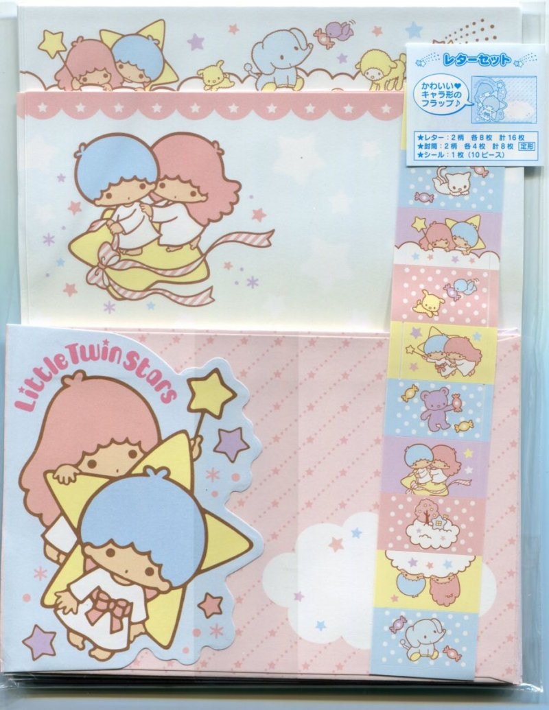 Image 0 of Sanrio Little Twin Stars 2 Design Letter Set #3 (L1173)