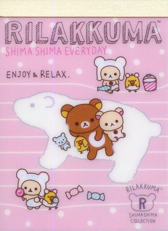 Image 0 of San-X Rilakkuma Relax Bear 2 Design Mini Memo Pad #61 (Stripes Everyday) (M1327)