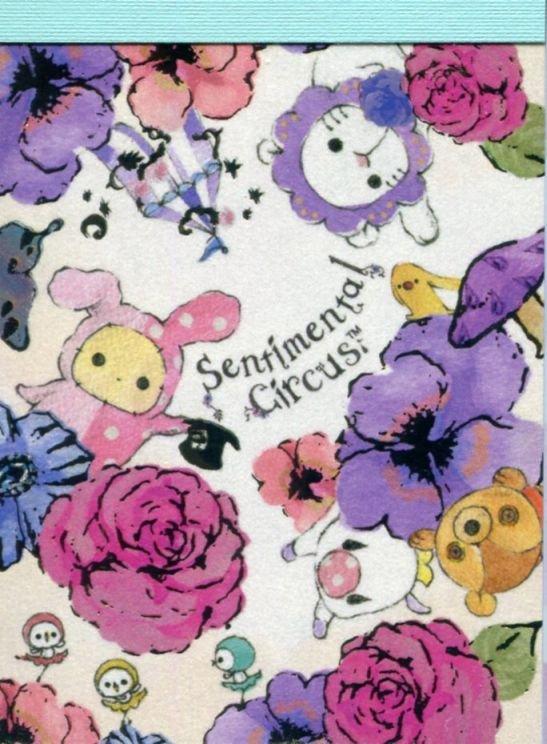 Image 0 of San-X Sentimental Circus 2 Design Mini Memo Pad #28 (M1331)