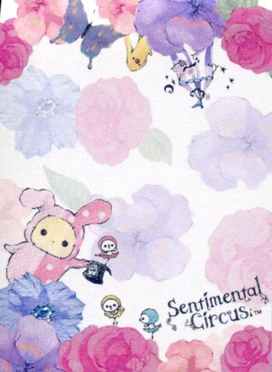 Image 1 of San-X Sentimental Circus 2 Design Mini Memo Pad #28 (M1331)