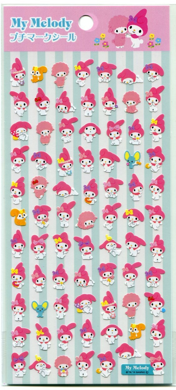 Image 0 of Sanrio My Melody Petit Mark Sticker Sheet #5 (I1475)