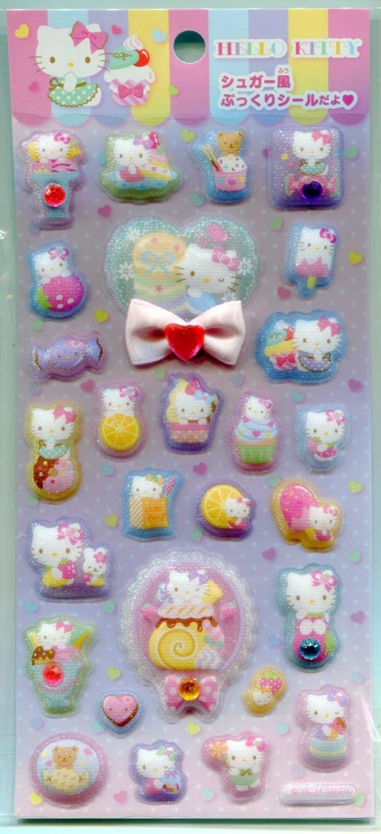 Image 0 of Sanrio Hello Kitty Sweet Dessert Sponge Sticker Sheet #2 (I1486)