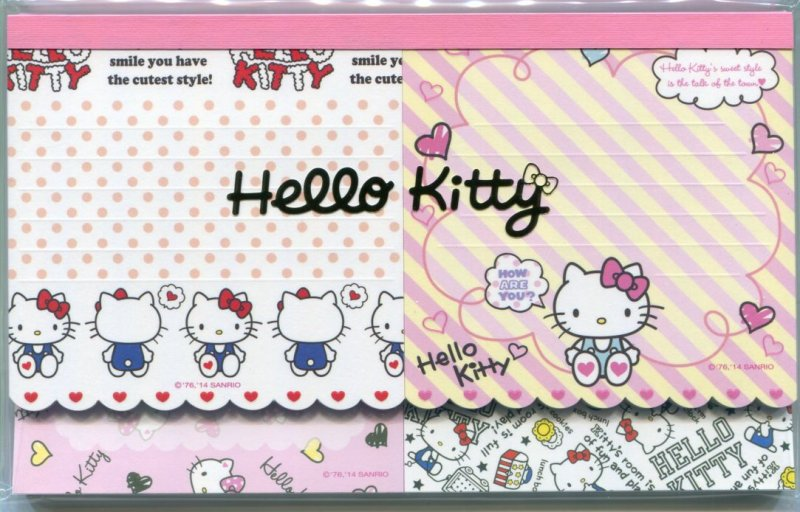 Image 0 of Sanrio Hello Kitty 5 Design Die Cut Memo Pad #1 (M1373)