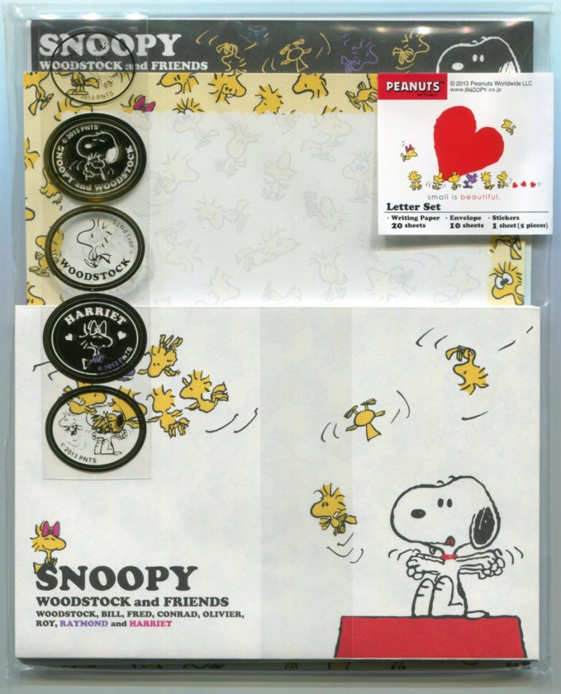 Image 0 of Peanuts Snoopy with Small Friends 2 Design Letter Set #2 (L1235)