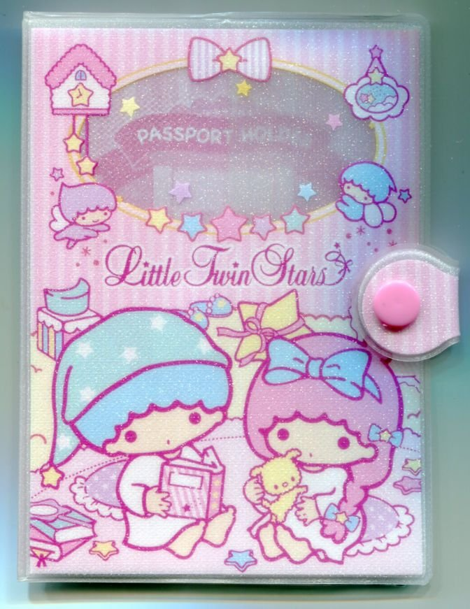 Image 0 of Sanrio Little Twin Stars Shiny Passport Cover Holder #2 (SH0074)