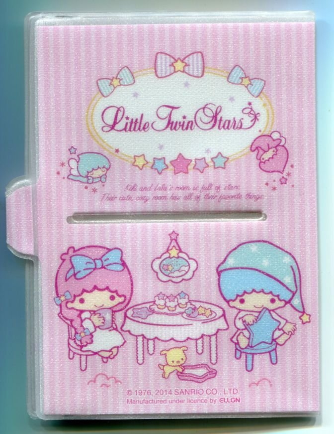 Image 1 of Sanrio Little Twin Stars Shiny Passport Cover Holder #2 (SH0074)