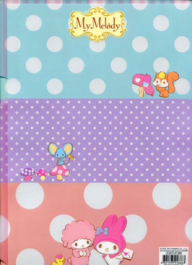 Image 1 of Sanrio My Melody A4 Plastic File Folder #52 (Letter to Friend) (FF1257)