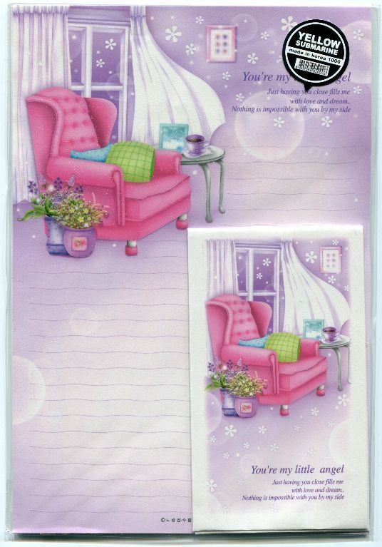 Image 0 of Korea Sofa and Flower Letter Set #1 (L0576)
