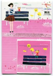 Thumbnail of Korea Girl and Bear Letter Set #1 (L0577)