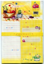 Thumbnail of Korea Fruit in Basket Letter Set #1 (L0579)