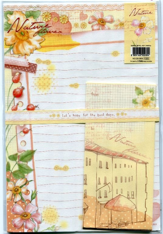 Image 0 of Korea Flower Letter Set #1 (L0589)