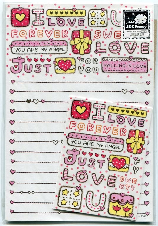 Image 0 of Korea Just Love You Letter Set #1 (L0592)