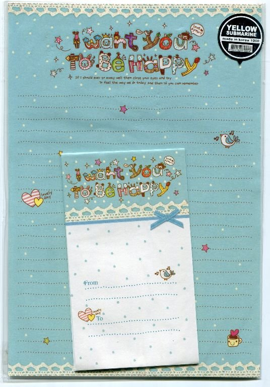 Image 0 of Korea I Want You to be Happy Letter Set #1 (L0593)