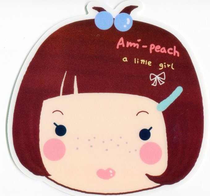 Image 0 of Ami Peach Girl Die Cut Mouse Pad #1 (SU0015)