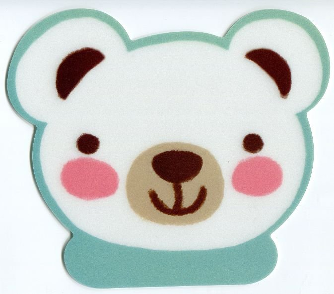 Image 0 of Bear Head Die Cut Mouse Pad #1 (SU0016)