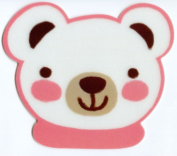 Image 0 of Bear Head Die Cut Mouse Pad #2 (SU0017)