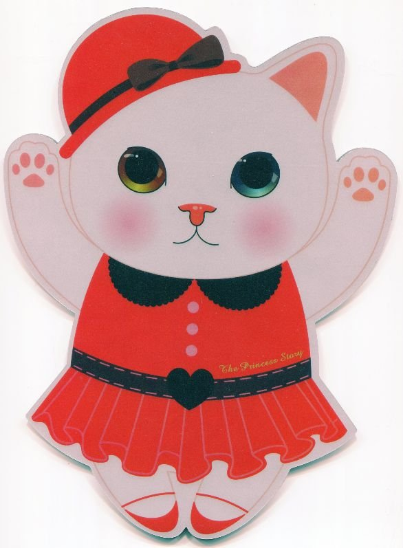 Image 0 of Korea Jetoy The Princess Story Cat Die Cut Mouse Pad #2 (SU0019)