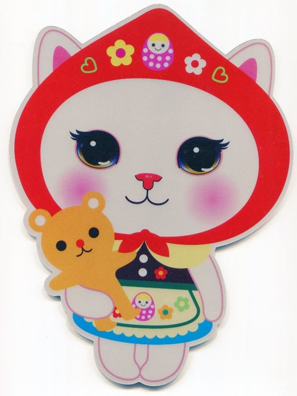 Image 0 of Korea Jetoy The Princess Story Cat Die Cut Mouse Pad #4 (SU0021)