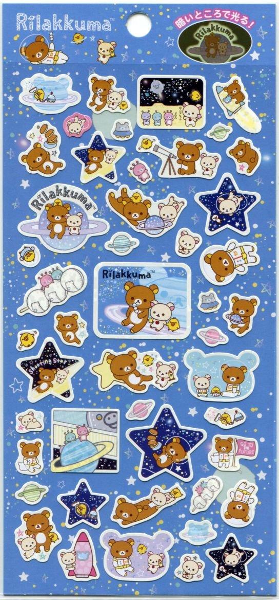Image 0 of San-X Rilakkuma Relax Bear Sticker Sheet #30 (Go to the Future) (I1526)
