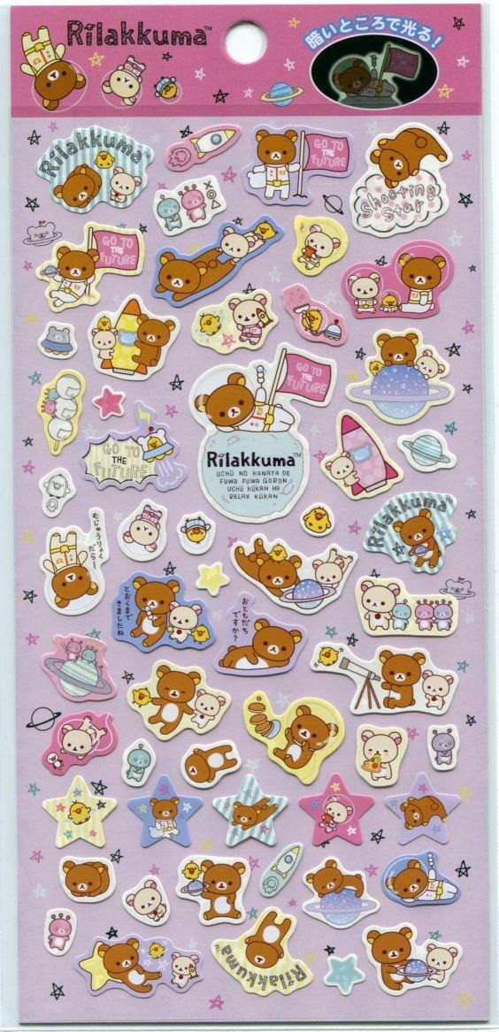 Image 0 of San-X Rilakkuma Relax Bear Sticker Sheet #31 (Go to the Future) (I1527)