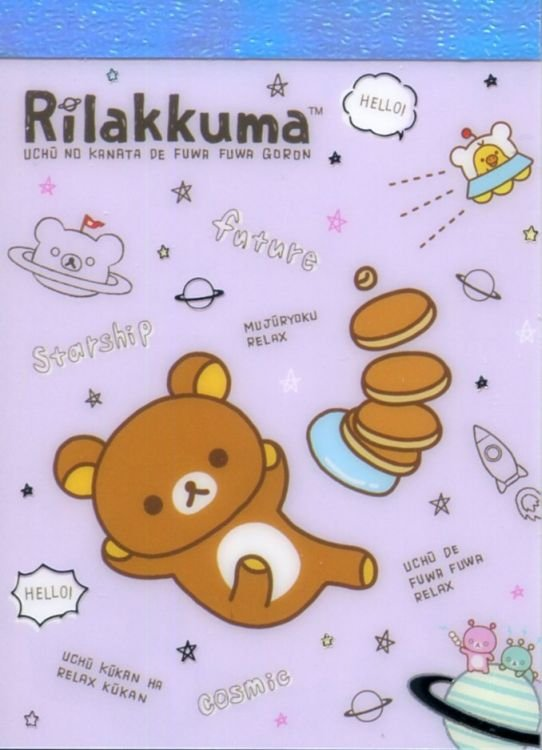 Image 0 of San-X Rilakkuma Relax Bear 2 Design Mini Memo Pad #67 (Go to the Future) (M1384)
