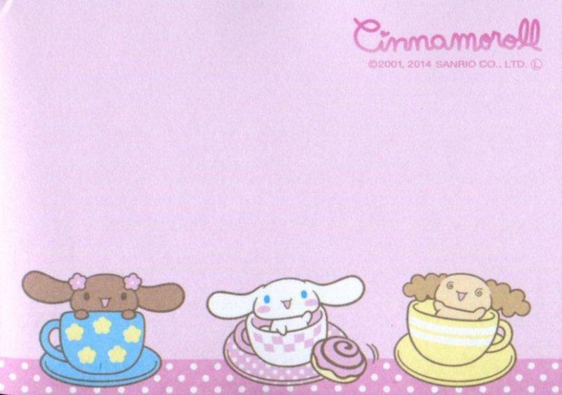 Image 2 of Sanrio Cinnamoroll 2 Design Mini Memo Pad #1 (M1390)