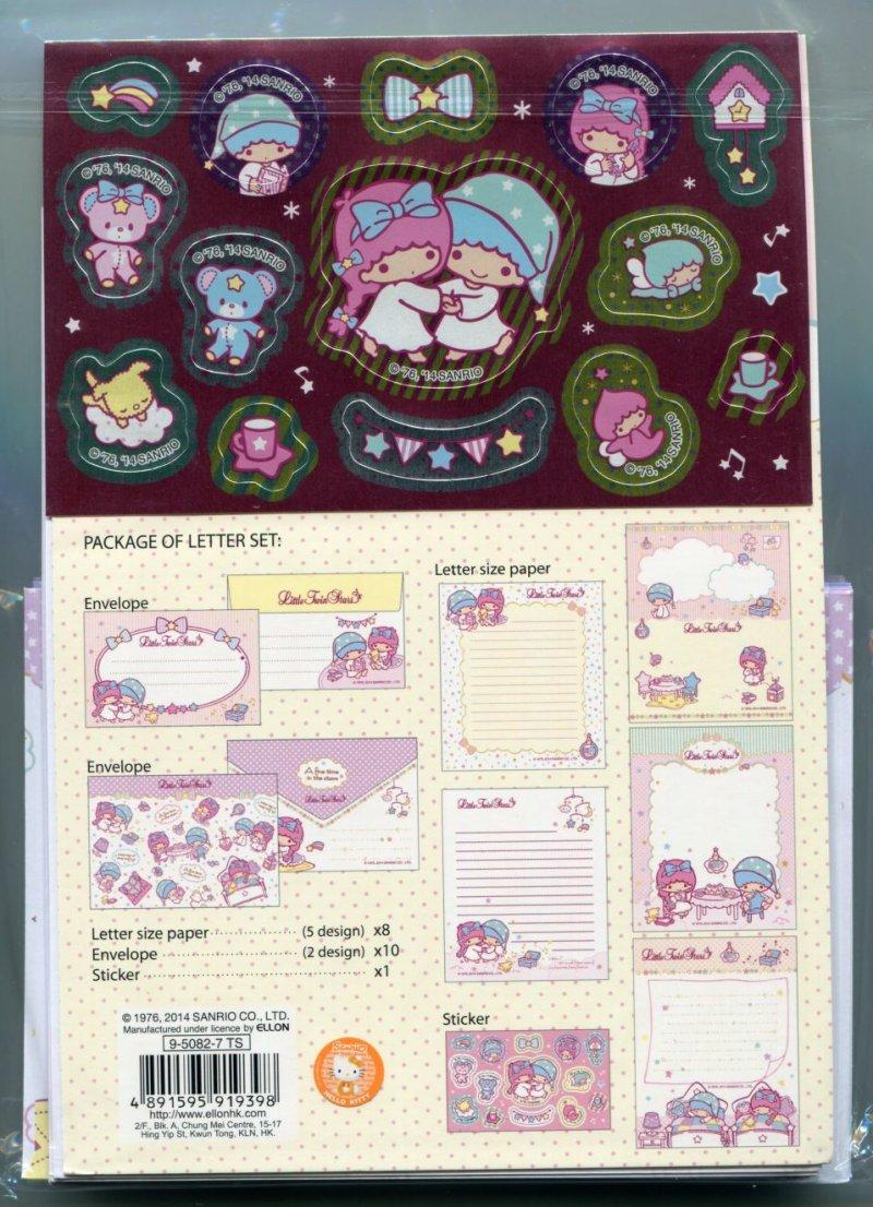 Image 1 of Sanrio Little Twin Stars 5 Design Letter Set #1 (L1258)