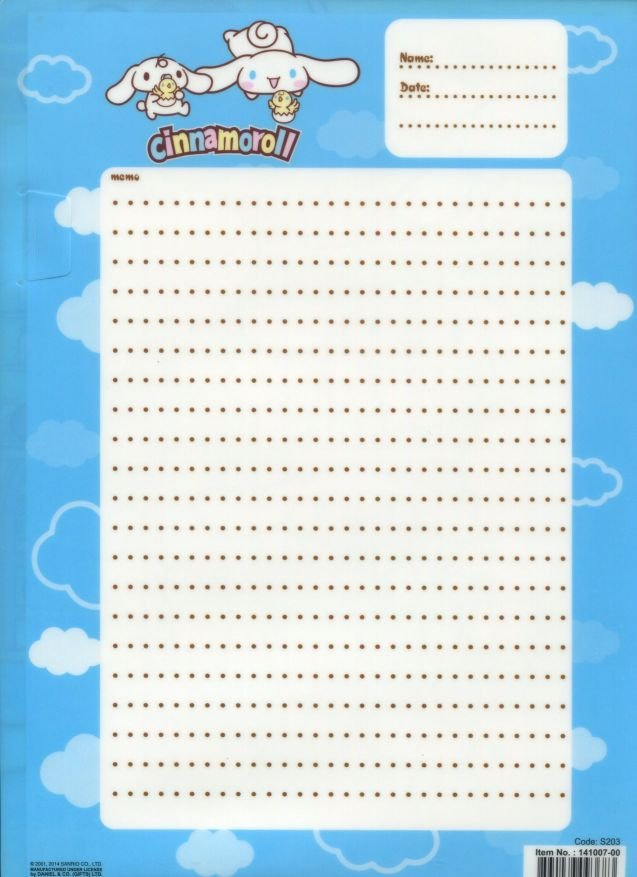 Image 1 of Sanrio Cinnamoroll Comics A4 Plastic File Folder #1 (FF1278)