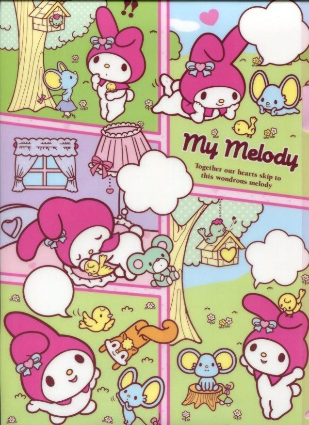 Image 0 of Sanrio My Melody Comics A4 Plastic File Folder #1 (FF1279)