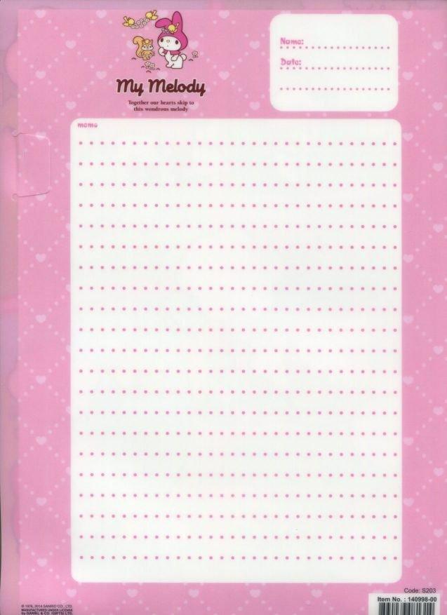 Image 1 of Sanrio My Melody Comics A4 Plastic File Folder #1 (FF1279)