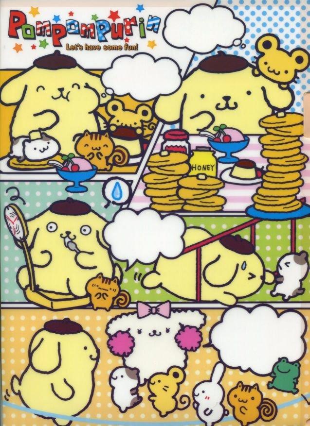 Image 0 of Sanrio Pom Pom Purin Comics A4 Plastic File Folder #1 (FF1284)
