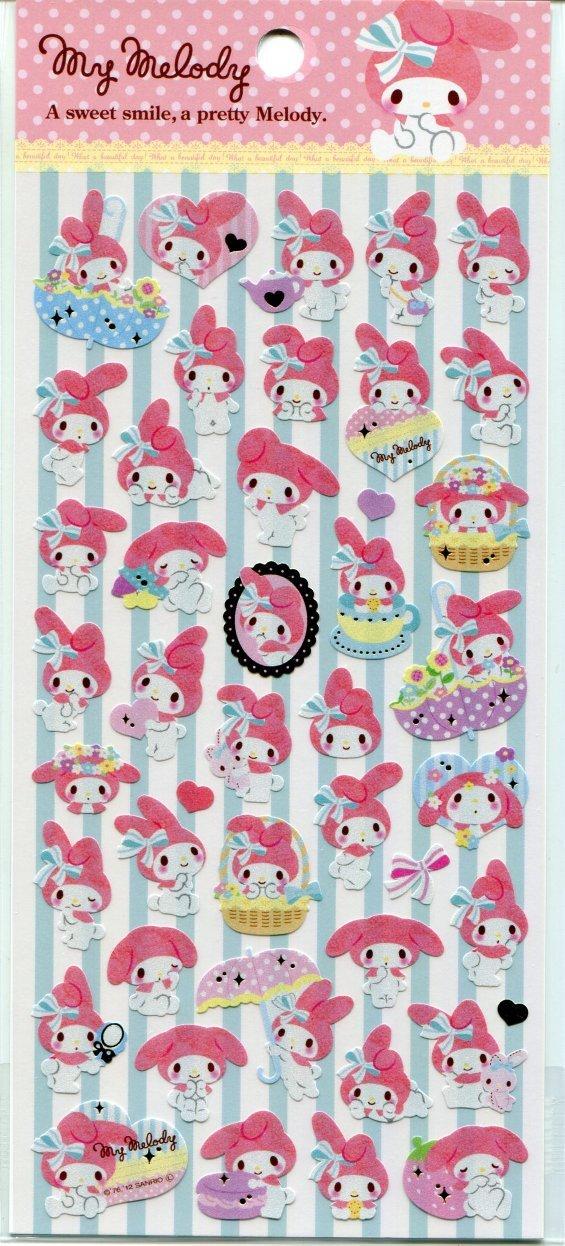 Image 0 of Sanrio My Melody Sweet Smile Sticker Sheet #1 (I1549)