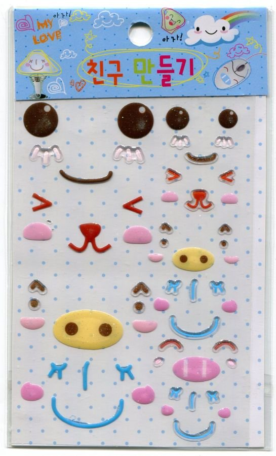 Image 0 of Korea Cute Face Facial Expression Deco Sticker Sheet #3 (I0660)