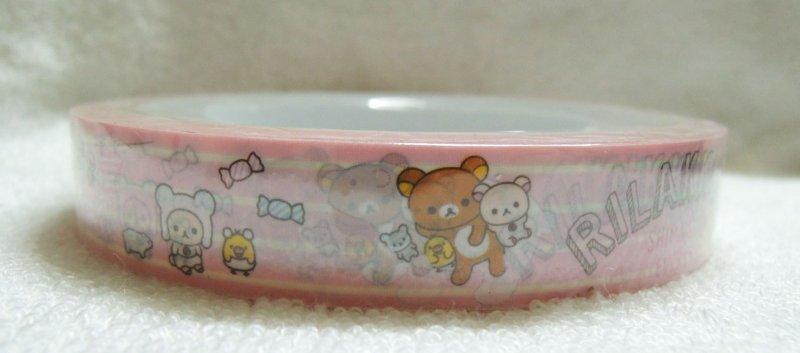 Image 1 of San-X Rilakkuma Relax Bear Deco Tape Masking Tape #27 (DM0207)