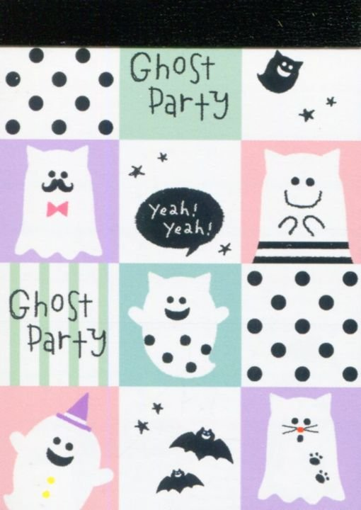 Image 0 of Crux Ghost Party 2 Design Mini Memo Pad #1 (M1419)