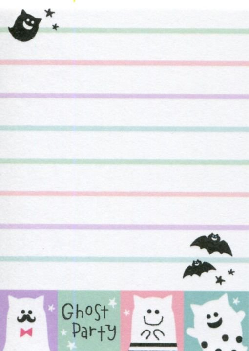Image 1 of Crux Ghost Party 2 Design Mini Memo Pad #1 (M1419)