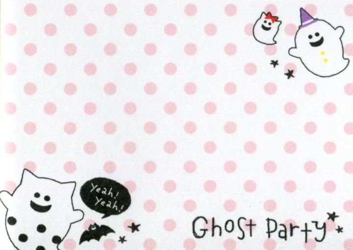 Image 2 of Crux Ghost Party 2 Design Mini Memo Pad #1 (M1419)
