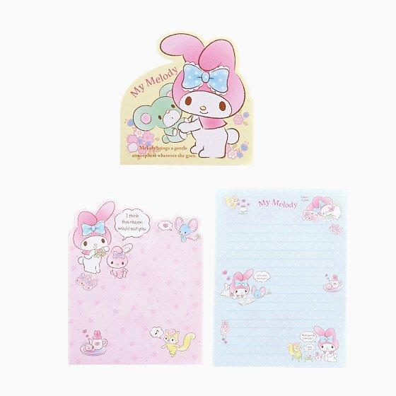 Image 1 of Sanrio My Melody 3 Design Die Cut Memo Pad #3 (M1427)