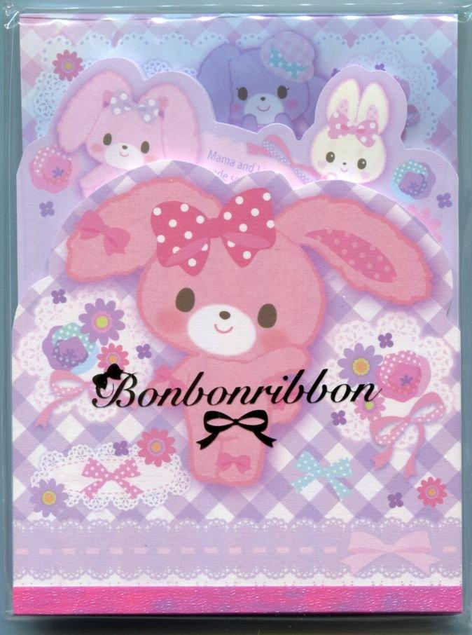 Image 0 of Sanrio Bonbonribbon 3 Design Die Cut Memo Pad #2 (M1430)