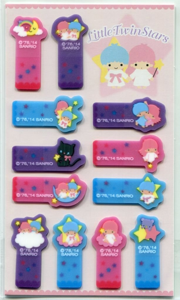 Image 0 of Sanrio Little Twin Stars 12 Design Semi-transparent Sticky Note #2 (MP0243)