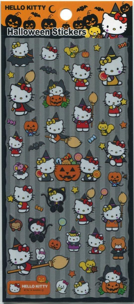 Image 0 of Sanrio Hello Kitty Halloween Sticker Sheet #5 (I1586)
