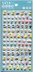 Crux Chima Chima Friends Animal Petit Mark Sponge Sticker Sheet #2 (I1592)